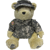 Bear Forces of America Plush Bear in the Army Combat Uniform (ACU), 16 in.