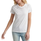 Lucky Brand Embroidered Solid Tee