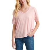 Lucky Brand Seamed Burn Out Tee