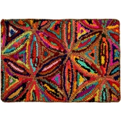 Chesapeake Merchandising Chindi Star Burst Multicolored Hand tufted Bath Rug