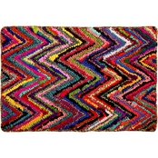 Chesapeake Chindi Chevron Multicolored Hand tufted Bath Rug