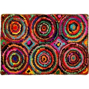 Chesapeake Chindi Circles Multicolored Hand Tufted Bath Rug