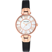 Anne Klein Women's Rose Goldtone and Leather Strap Watch AK/2718RG