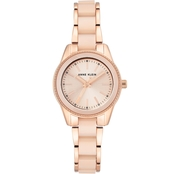 Anne Klein Women's Rose Gold Light Pink Resin Bracelet Watch AK/3212LPRG
