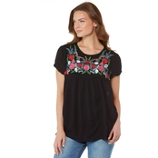 JW Embroidered Woven Top