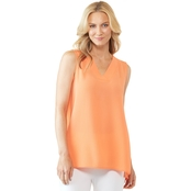 Passports V Neck Crepe Woven Top