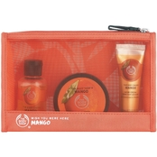 The Body Shop Mango Beauty Bag 3pc Gift Set