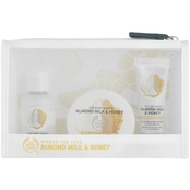 The Body Shop Almond Milk & Honey Beauty Bag 3 pc. Gift Set