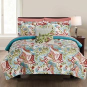 Fine Linens Kailyn Printed Reversible Complete Bed Set