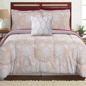 8 PIECE PRINTED REVERSIBLE COMPLETE BED SET POSITANO