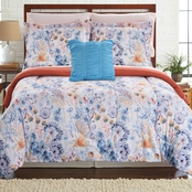 8 PIECE PRINTED REVERSIBLE COMPLETE BED SET GIVERNY