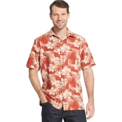 Van Heusen Air Sandwash Printed Camp Woven Shirt
