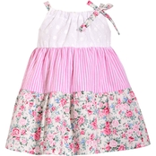Bonnie Jean Infant Girls Eyelet to Print Dress