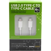 USB2.0 Type C to Type C Cable 6ft WHT