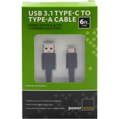 USB3.1 Type C to USB-A Cable 6ft BLK