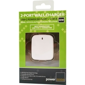 30W USB Type C PD + USB-A 2 Port Wall Charger WHT
