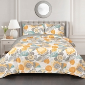 Layla Quilt Yellow/Gray 3Pc Set King