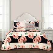 Lush Decor Amara Floral Quilt Set