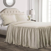 Lush Decor Ruffle Skirt 3 pc. Bedspread Set