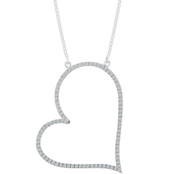 Sterling Silver 1/4 CTW Diamond Fashion Necklace