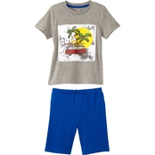 Gumballs Infant Boys Surf Rider 2 pc. Jersey Shorts Set