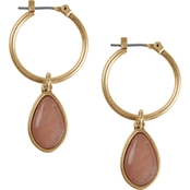 Lucky Brand Goldtone Reversible Drop Earrings