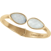 Lucky Brand Goldtone Double Stone Cuff