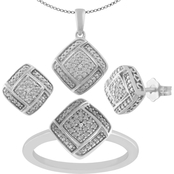 Sterling Silver Diamond Accent 3PC Box Set
