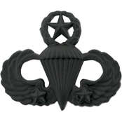 Army Master Combat Parachutist Second Award Badge Submetal Black