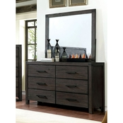 Furniture of America Strasburg Rustic Brown 8 Drawer Dresser and Mirror