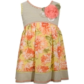 Bonnie Jean Infant Girls Stripe Bodice Floral Dress