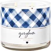 Bath & Body Works  Gingham 3 Wick Candle