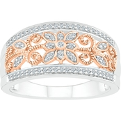 10K Rose Gold Sterling Silver 1/5 CTW Diamond Fashion Ring