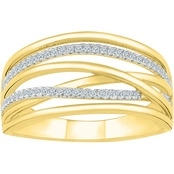 10KT YELLOW GOLD 1/6CTW DIAMOND FASHION RING
