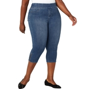 Avenue Plus Size Ultimate Fit Pull-on Capris with Rivets