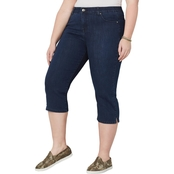 Avenue Plus Size Flexi Fit Capri Jeans