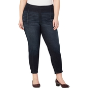Avenue Plus Size Flexi Fit Seamed Pull-On Skinny Jeans
