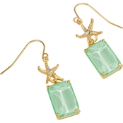 Spartina 449 Mermaid Glass Starfish Earrings