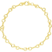 14K YELLOW GOLD TWISTED INFINITY LINK BRACELET
