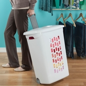 Sterilite Wheeled Laundry Hamper