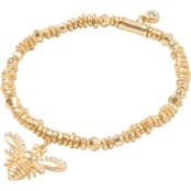 Spartina 449 Goldtone Bee Stretch Bracelet