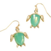 Spartina 449 18K Gold Over Silver Sea Turtle Drop Earrings