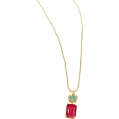Spartina 449 Mermaid Glass Flower Bitty Necklace 17 in.