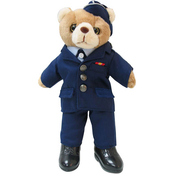 Bear Forces of America Plush Bear in Officer Service Dress Uniform, 11 in. Female