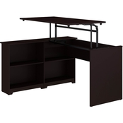 Bush Cabot Sit to Stand Corner Bookshelf Desk