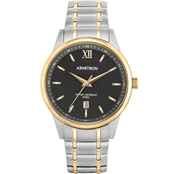 Armitron Men's Date Function Two Tone Bracelet Watch 20/5388BKTT