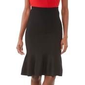 Michael Kors Solid Jersey Flare Skirt