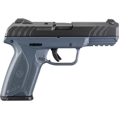 Ruger Security-9 9MM 4 in. Barrel 15 Rds 2-Mags Pistol Black with Cobalt Blue Frame