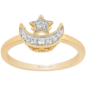 Sterling Silver with 14K Yellow Gold plating 1/10 CTW Diamond Jasmin Ring