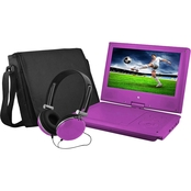 Ematic Purple 7 in. DVD Player Bundle